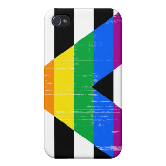 Straight Ally Pride distressed Covers For iPhone 4