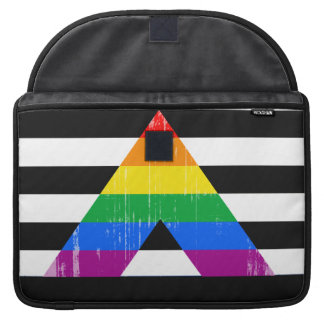 Straight Ally Pride distressed MacBook Pro Sleeve