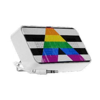 Straight Ally Pride distressed Travelling Speaker