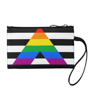 STRAIGHT ALLY PRIDE FLAG CHANGE PURSES