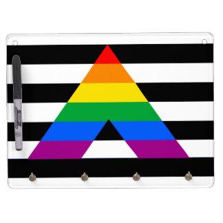 STRAIGHT ALLY PRIDE FLAG Dry-Erase WHITEBOARD