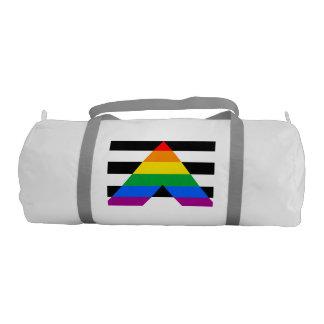 Straight Ally Pride Flag Gym Duffel Bag