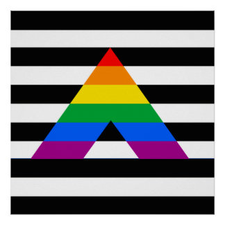 STRAIGHT ALLY PRIDE FLAG POSTER
