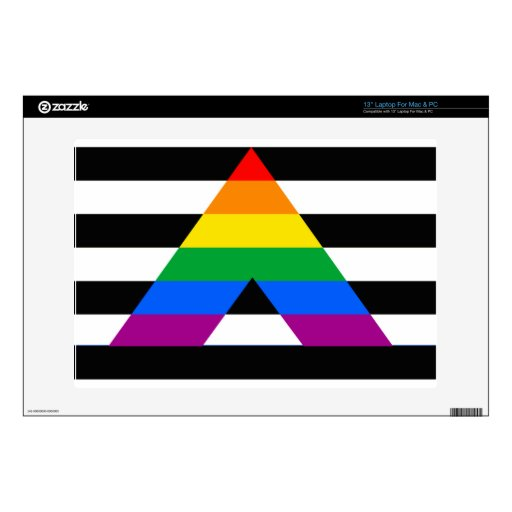 STRAIGHT ALLY PRIDE FLAG LAPTOP DECAL