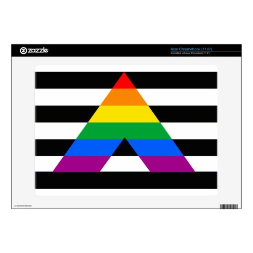 STRAIGHT ALLY PRIDE FLAG ACER CHROMEBOOK DECALS