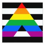 Straight Ally Pride 5.25x5.25 Square Paper Invitation Card