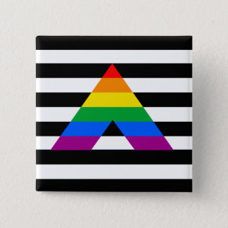 Straight Ally Pride Pinback Button