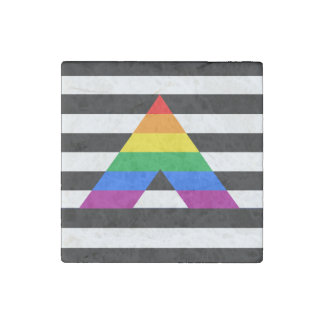 STRAIGHT ALLY PRIDE.png Stone Magnet