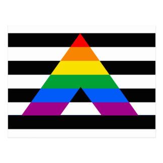 Straight Ally Pride Postcard