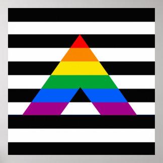 Straight Ally Pride Print