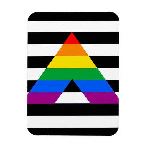 Straight Ally Pride Rectangular Photo Magnet