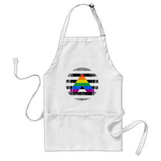 Straight Ally Pride Round distressed Adult Apron