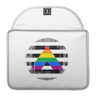 Straight Ally Pride Round distressed Sleeves For MacBook Pro