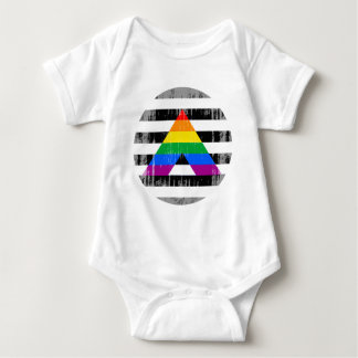 Straight Ally Pride Round distressed T Shirts
