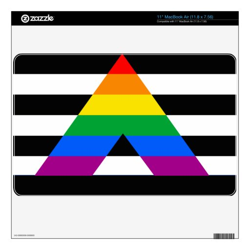 "Straight Ally Pride 11"" MacBook Air Decal"