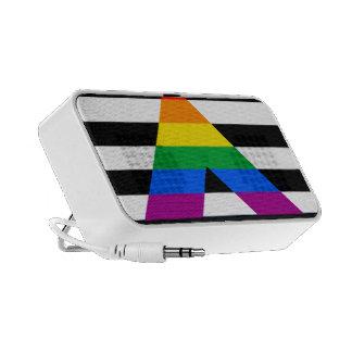Straight Ally Pride Laptop Speakers