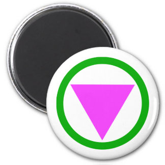 Straight Ally Symbol 2 Inch Round Magnet