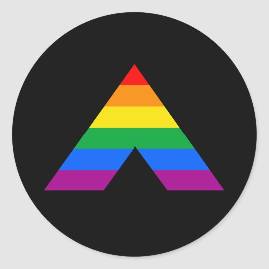 Straight Ally Symbol Classic Round Sticker