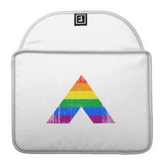 Straight Ally Symbol distressed MacBook Pro Sleeves