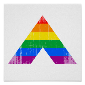 Straight Ally Symbol distressed.png Posters