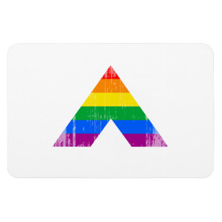 Straight Ally Symbol distressed.png Rectangular Photo Magnet