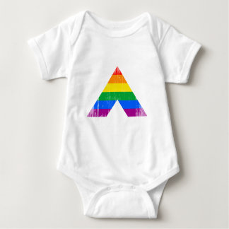 Straight Ally Symbol distressed T Shirts