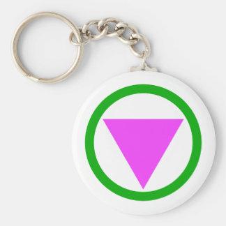 Straight Ally Symbol Keychain