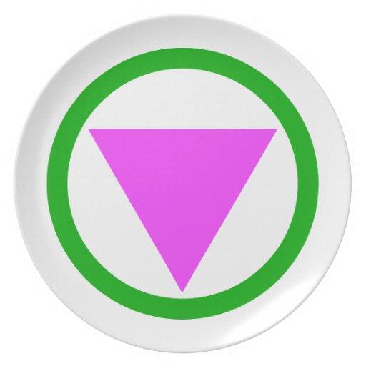 Straight Ally Symbol Plate