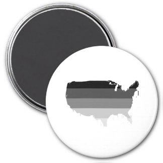 Straight America 3 Inch Round Magnet