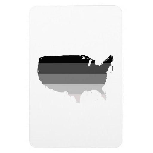 Straight America Vinyl Magnet