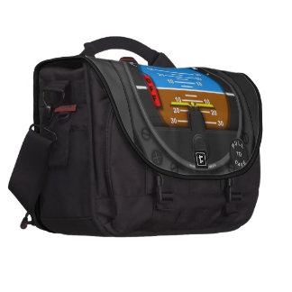 Straight and level laptop messenger bag
