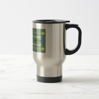 Straight And Narrow 15 Oz Stainless Steel Travel Mug