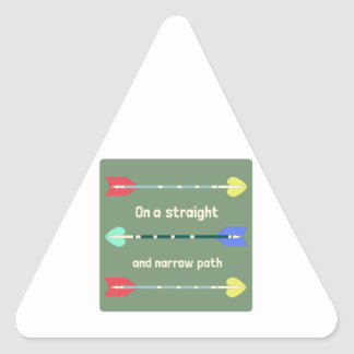 Straight And Narrow Triangle Sticker