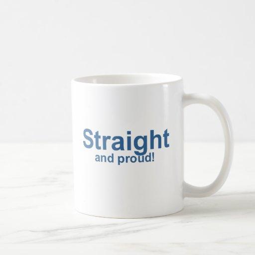 Straight…and proud! classic white coffee mug
