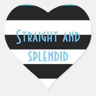 Straight and Splendid Heart Sticker