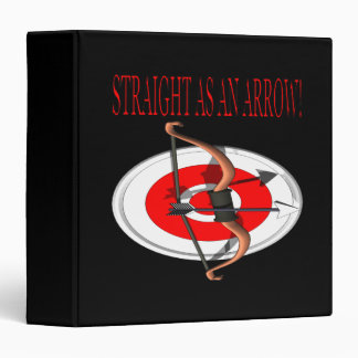 Straight As An Arrow 3 Ring Binder