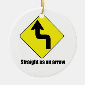 Straight as an arrow ornaments