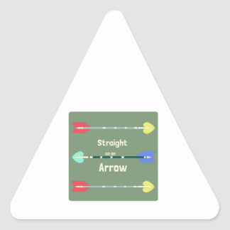 Straight As An Arrow Triangle Stickers
