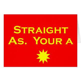 Straight As Card
