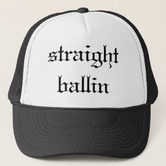 straight ballin trucker hat