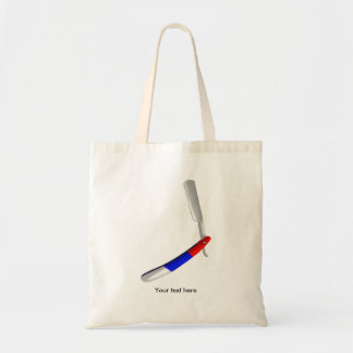 Straight Blade Cut Throat Razor Red White And Blue Tote Bag