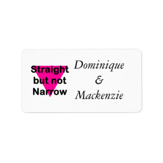 straight but not narrow address label