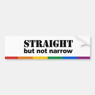 Straight but not narrow car bumper sticker
