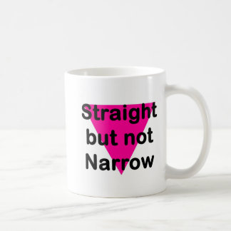 straight but not narrow coffee mug