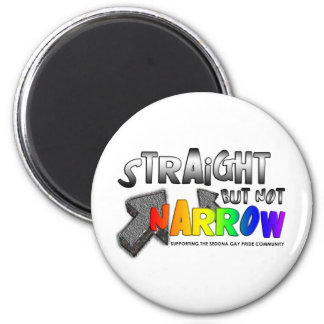 Straight but not Narrow Fridge Magnets