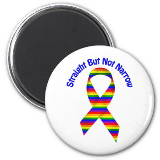 Straight But Not Narrow Gay Pride Tees, Gifts 2 Inch Round Magnet