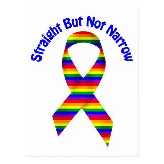 Straight But Not Narrow Gay Pride Tees, Gifts Postcard