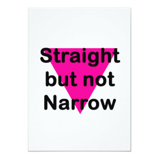 straight but not narrow 5x7 paper invitation card
