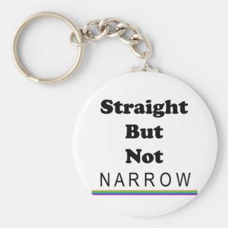 Straight But Not Narrow Keychain