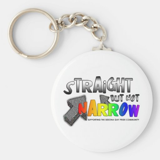 Straight but not Narrow Keychains